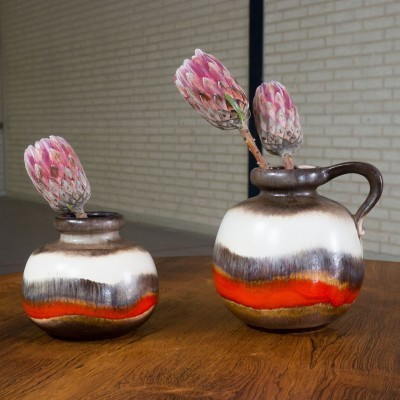 Set of 2 vases from the sixties by unknown designer for Scheurich Germany