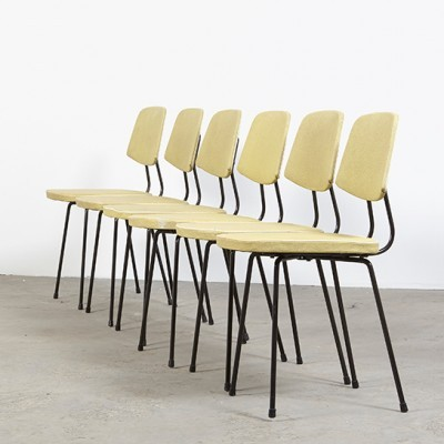 Set of 6 dining chairs by Rudolf Wolf for Elsrijk, 1950s