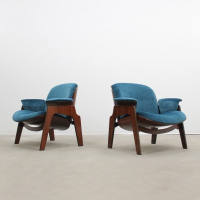 Set of 2 arm chairs from the fifties by Ico Parisi for MIM Roma