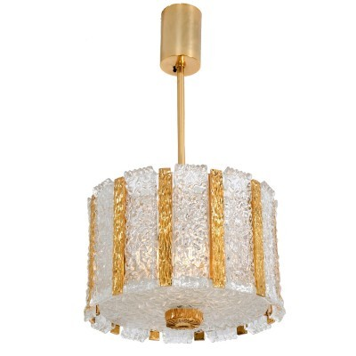 Drum Chandelier hanging lamp from the sixties by Carl Fagerlund for Kalmar