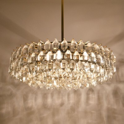 Crystal Glass Chandelier hanging lamp from the fifties by Friedl Bakalowits for Bakalowits & Soehne