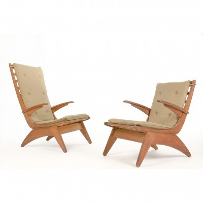 Set of 2 lounge chairs from the forties by Jan den Drijver for Gelderland