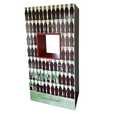 Limited Edition 311/500 Green Coca-Cola Bottles cabinet by Andy Warhol for HB Design, 1990s