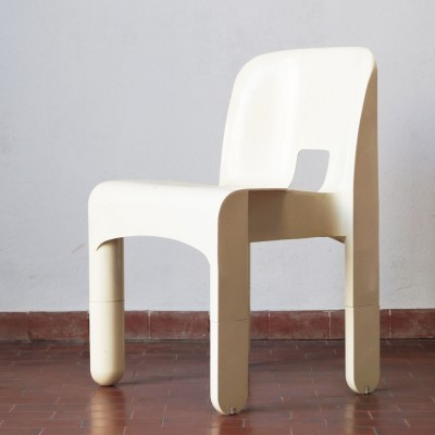 Set of 5 model 4867 dinner chairs from the sixties by Joe Colombo for Kartell