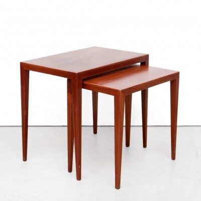 Set of 2 nesting tables from the fifties by Severin Hansen for Haslev