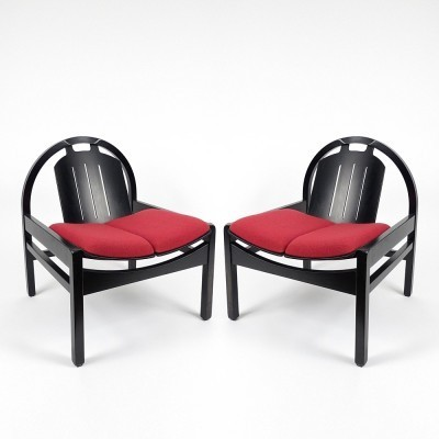 Set of 2 lounge chairs from the eighties by unknown designer for Baumann