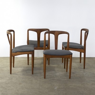 Set of 4 Juliane dinner chairs from the sixties by Johannes Andersen for Vamo Furniture
