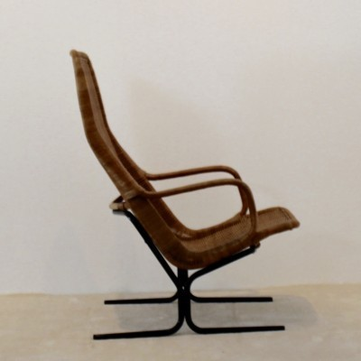 Model 514 Wicker arm chair by Dirk van Sliedregt for Rohé Noordwolde, 1960s