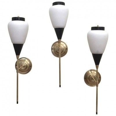 Set of 3 wall lamps from the fifties by unknown designer for unknown producer