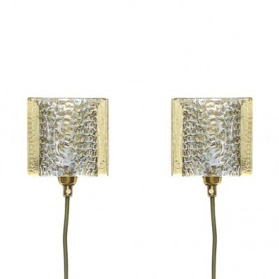 Pair of Vitrika wall lamps, 1960s