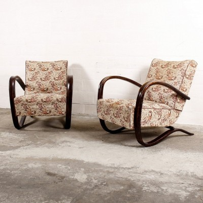 2 H269 lounge chairs from the thirties by Jindřich Halabala for unknown producer