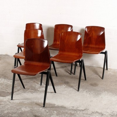 Set of 6 Flötotto dining chairs, 1960s