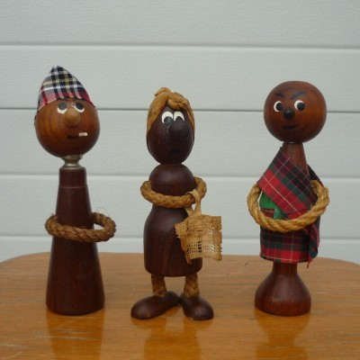 Danish Teak Dolls from the sixties by unknown designer for unknown producer