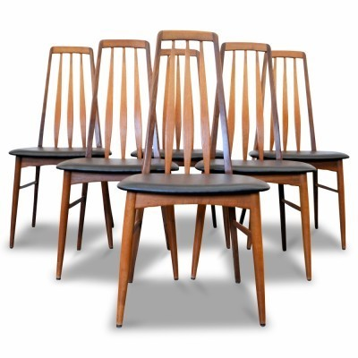 Set of 6 EVA dinner chairs from the sixties by Niels Kofoed for Kofoeds Hornslet