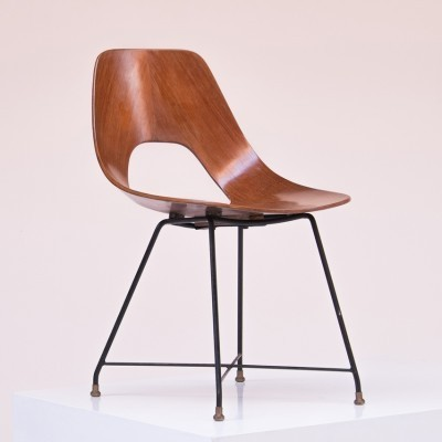 Ariston dinner chair from the fifties by Augusto Bozzi for Saporiti