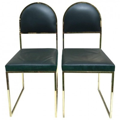 Pair of Willy Rizzo dinner chairs, 1970s