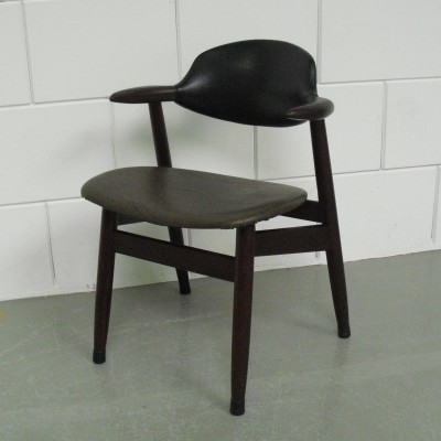 Cow Horn arm chair from the fifties by unknown designer for Tijsseling