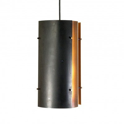 Copper & black coloured pendant by Fog & Mørup, 1970s