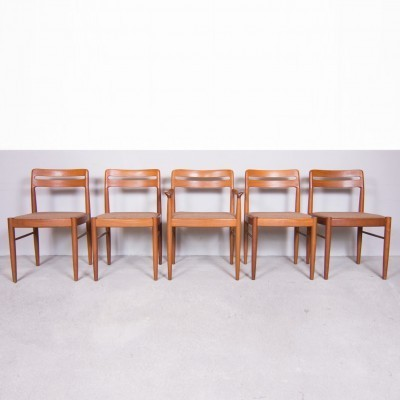 Set of 5 dinner chairs from the sixties by Henry W. Klein for Bramin