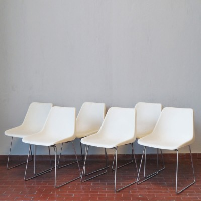 Set of 6 dinner chairs from the sixties by Robin Day for S. A. M. U. Hille