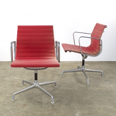 Set of 2 EA108 arm chairs from the seventies by Charles & Ray Eames for Herman Miller