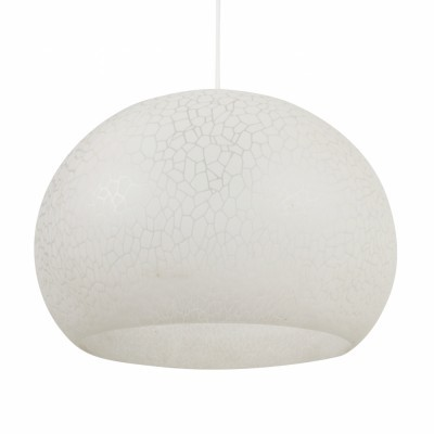 White plastic bubble hanging light from the seventies