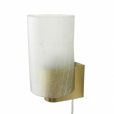 Modern wall light with frosted glass produced in the sixties by Philips Holland