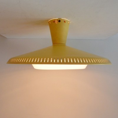 7 x NB93 E/00 ceiling lamp by Louis Kalff for Philips, 1950s
