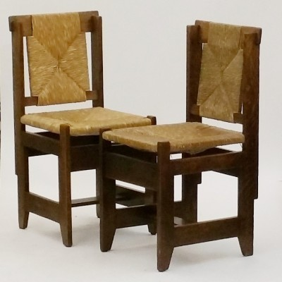 Set of 2 dinner chairs from the twenties by unknown designer for Meubelfabriek L. O. V. Oosterbeek