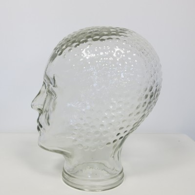 Glass Display Head from the seventies by unknown designer for unknown producer