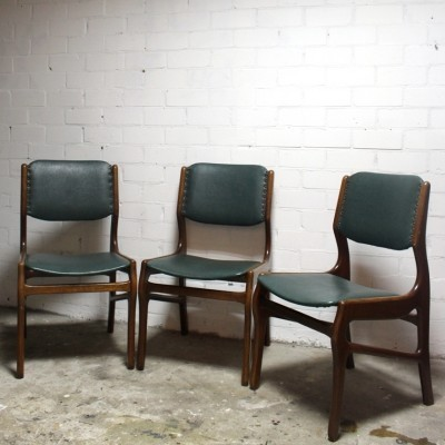Set of 3 dinner chairs from the fifties by unknown designer for unknown producer