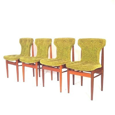 Set of 4 dinner chairs from the fifties by unknown designer for unknown producer
