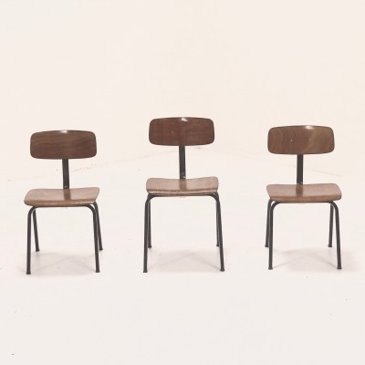 Chairs children furniture from the sixties by unknown designer for unknown producer