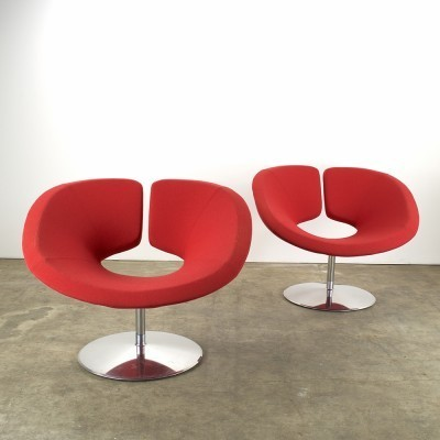 Set of 2 Apollo lounge chairs from the nineties by Patrick Norquet for Artifort