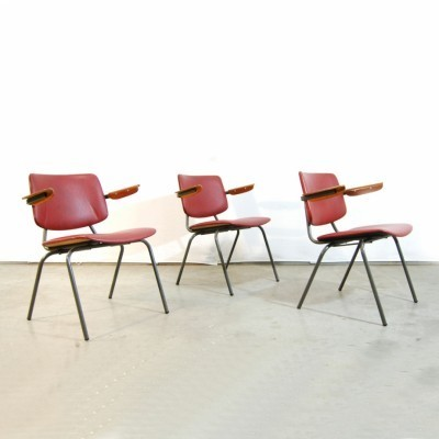 3 arm chairs from the sixties by Kho Liang Ie for CAR Industry Katwijk