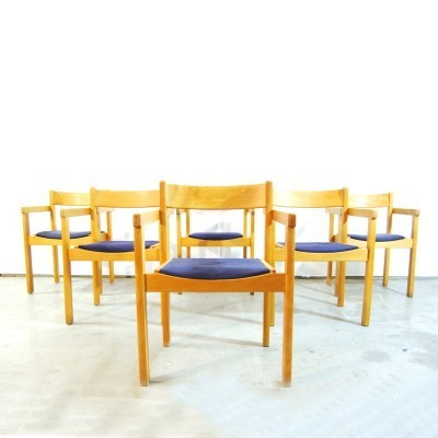 Set of 6 dining chairs by Hans Wegner for Getama, 1970s
