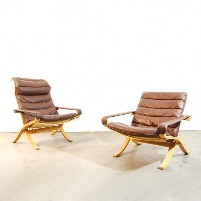 2 x lounge chair by Ingmar Relling for Westnofa, 1970s