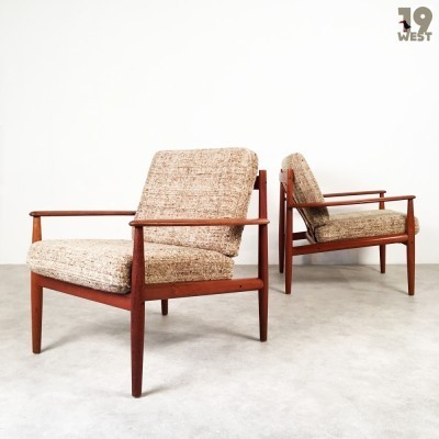 Set of 2 No. 113 lounge chairs from the sixties by Grete Jalk for France & Son