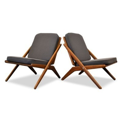 Pair of lounge chairs by Hovmand Olsen for Jutex, 1950s
