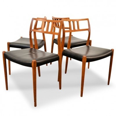 Set of 4 No. 79 dinner chairs from the fifties by Niels Ole Møller for Møller Models