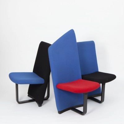 Set of 3 lounge chairs from the eighties by unknown designer for unknown producer