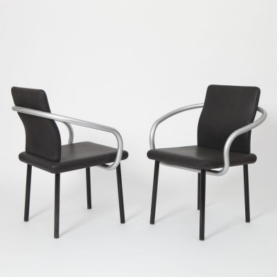 Set of 4 Mandarin arm chairs from the eighties by Ettore Sottsass for Knoll