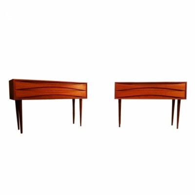 Set of 2 Triennale chest of drawers from the fifties by Arne Vodder for NC Mobler