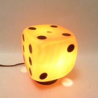 Dice Lamp desk lamp from the sixties by unknown designer for unknown producer