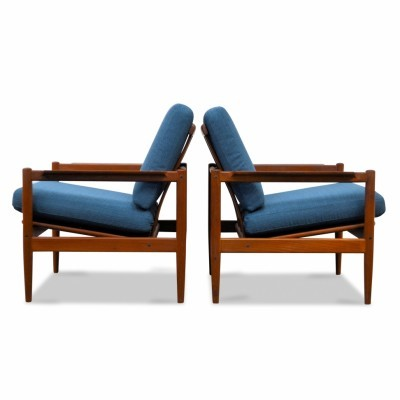 Set of 2 lounge chairs from the fifties by Børge Jensen & Sønner for Bernstorffsminde Mobelfabrik