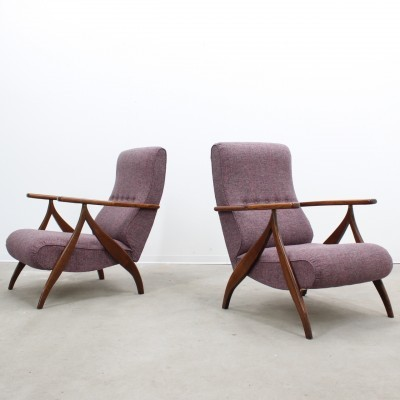 Set of 2 arm chairs from the forties by Paolo Buffa for unknown producer