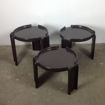 Set of 3 nesting tables by Giotto Stoppino for Kartell, 1960s
