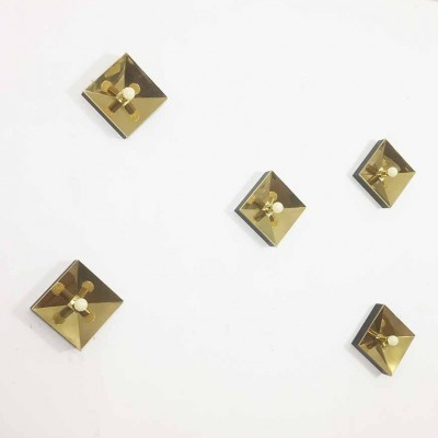 Set of 5 wall lamps from the seventies by unknown designer for unknown producer