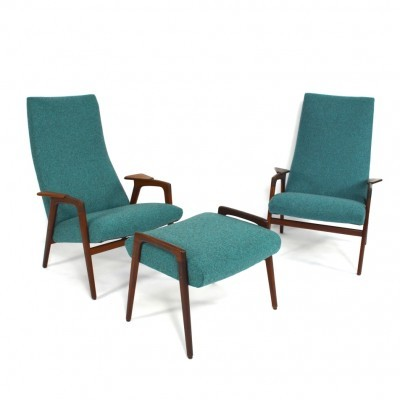 2 Ruster arm chairs from the fifties by Yngve Ekström for Pastoe