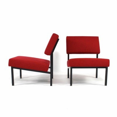2 lounge chairs from the fifties by Martin Visser for Spectrum